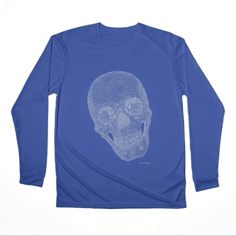 Skull Cocked (For Dark Background) Men's Performance Longsleeve T-Shirt by Daniel Dugan's Artist Shop