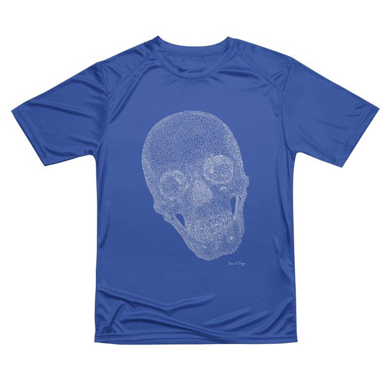 Skull Cocked (For Dark Background) Men's Performance T-Shirt by Daniel Dugan's Artist Shop