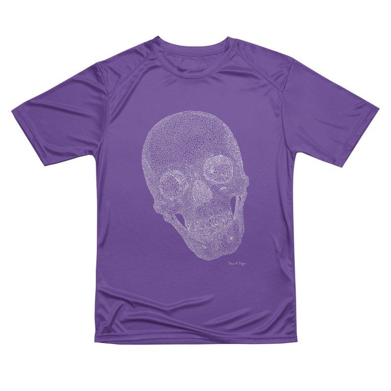 Skull Cocked (For Dark Background) Women's Performance Unisex T-Shirt by Daniel Dugan's Artist Shop