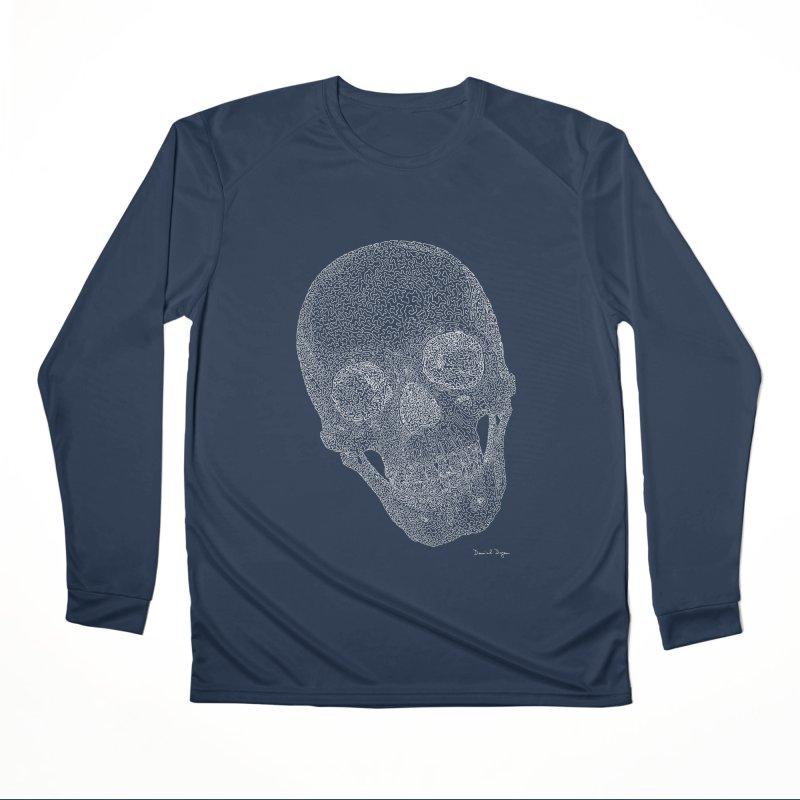 Skull Cocked (For Dark Background) Women's Performance Unisex Longsleeve T-Shirt by Daniel Dugan's Artist Shop