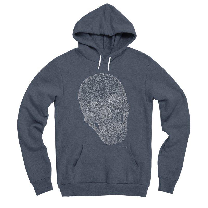 Skull Cocked (For Dark Background) Men's Sponge Fleece Pullover Hoody by Daniel Dugan's Artist Shop