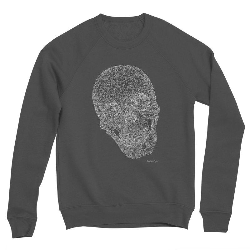 Skull Cocked (For Dark Background) Men's Sponge Fleece Sweatshirt by Daniel Dugan's Artist Shop
