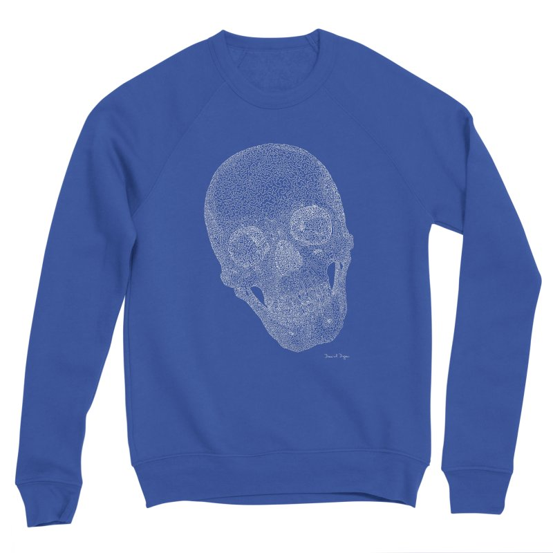 Skull Cocked (For Dark Background) Women's Sponge Fleece Sweatshirt by Daniel Dugan's Artist Shop