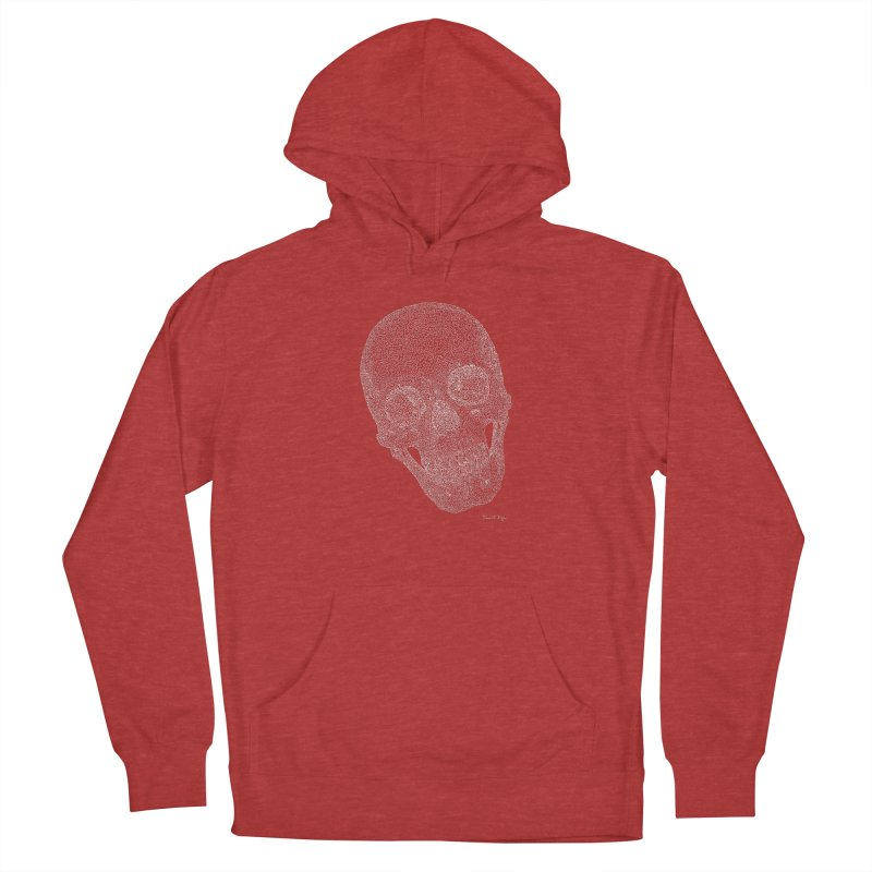 Skull Cocked (For Dark Background) Men's French Terry Pullover Hoody by Daniel Dugan's Artist Shop