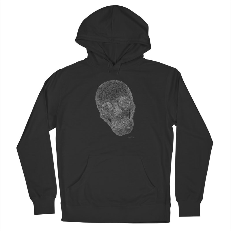 Skull Cocked (For Dark Background) Women's French Terry Pullover Hoody by Daniel Dugan's Artist Shop