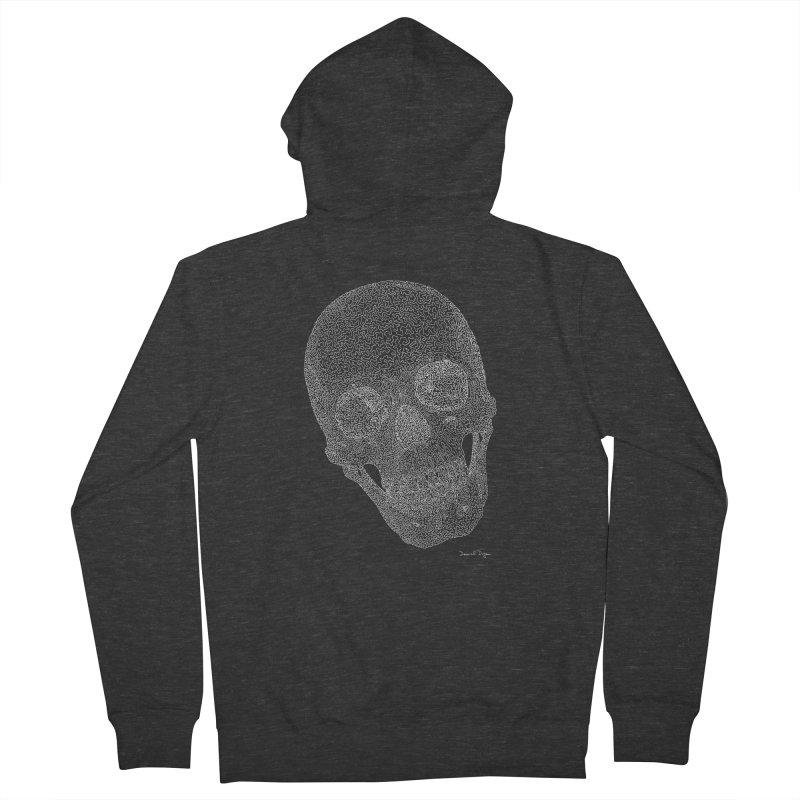 Skull Cocked (For Dark Background) Women's French Terry Zip-Up Hoody by Daniel Dugan's Artist Shop