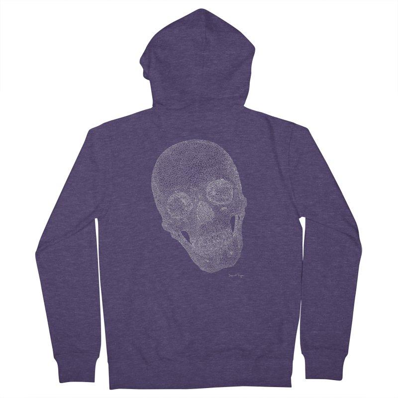 Skull Cocked (For Dark Background) Men's French Terry Zip-Up Hoody by Daniel Dugan's Artist Shop