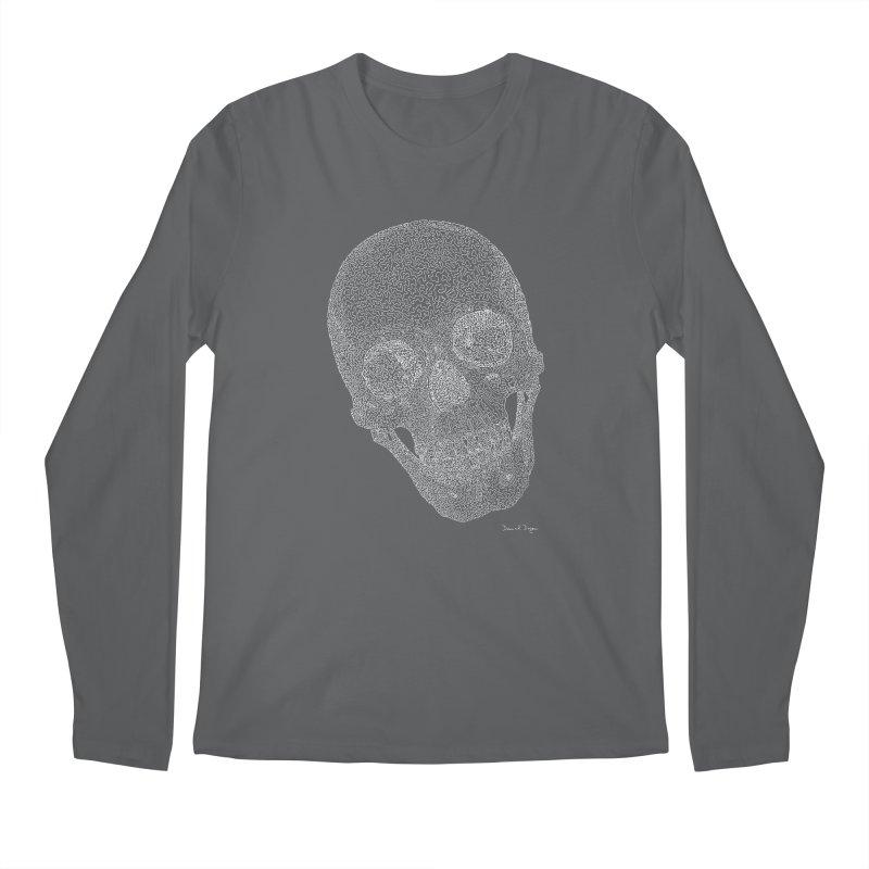 Skull Cocked (For Dark Background) Men's Longsleeve T-Shirt by Daniel Dugan's Artist Shop