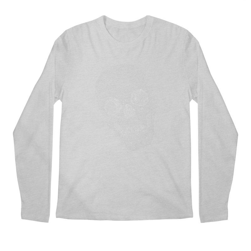 Skull Cocked (For Dark Background) Men's Regular Longsleeve T-Shirt by Daniel Dugan's Artist Shop