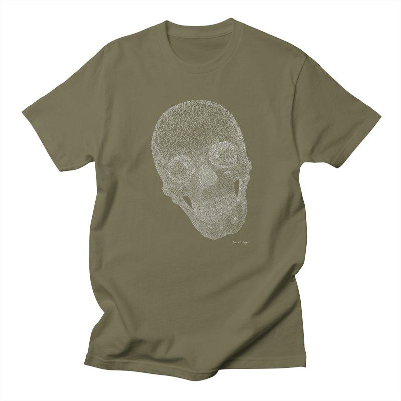 Skull Cocked (For Dark Background) Men's Regular T-Shirt by Daniel Dugan's Artist Shop
