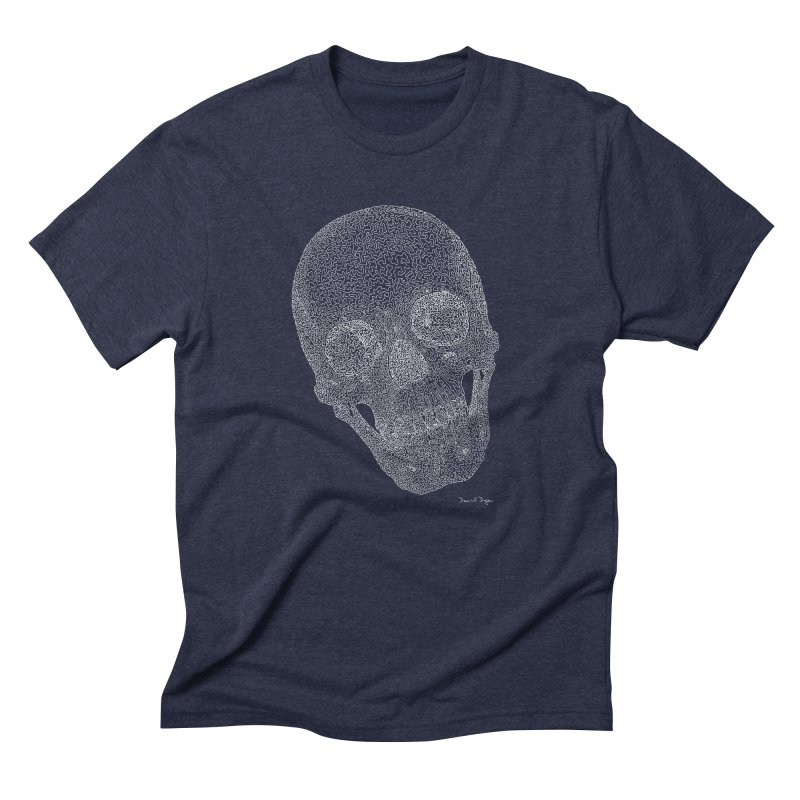 Skull Cocked (For Dark Background) Men's Triblend T-Shirt by Daniel Dugan's Artist Shop