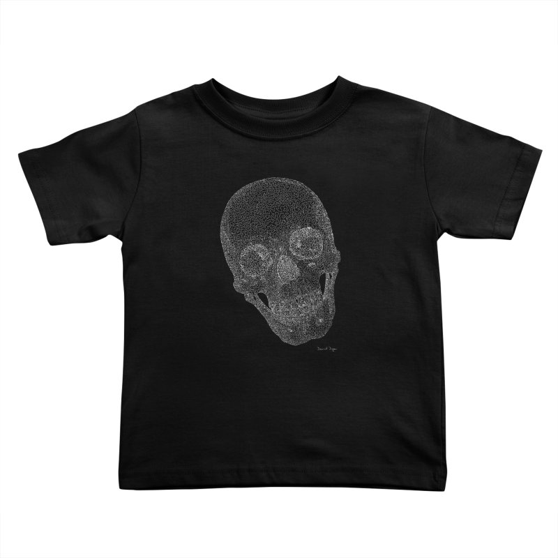 Skull Cocked (For Dark Background) Kids Toddler T-Shirt by Daniel Dugan's Artist Shop