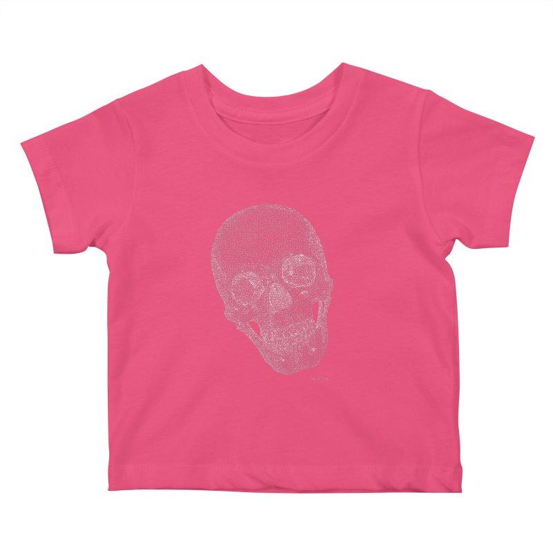 Skull Cocked (For Dark Background) Kids Baby T-Shirt by Daniel Dugan's Artist Shop