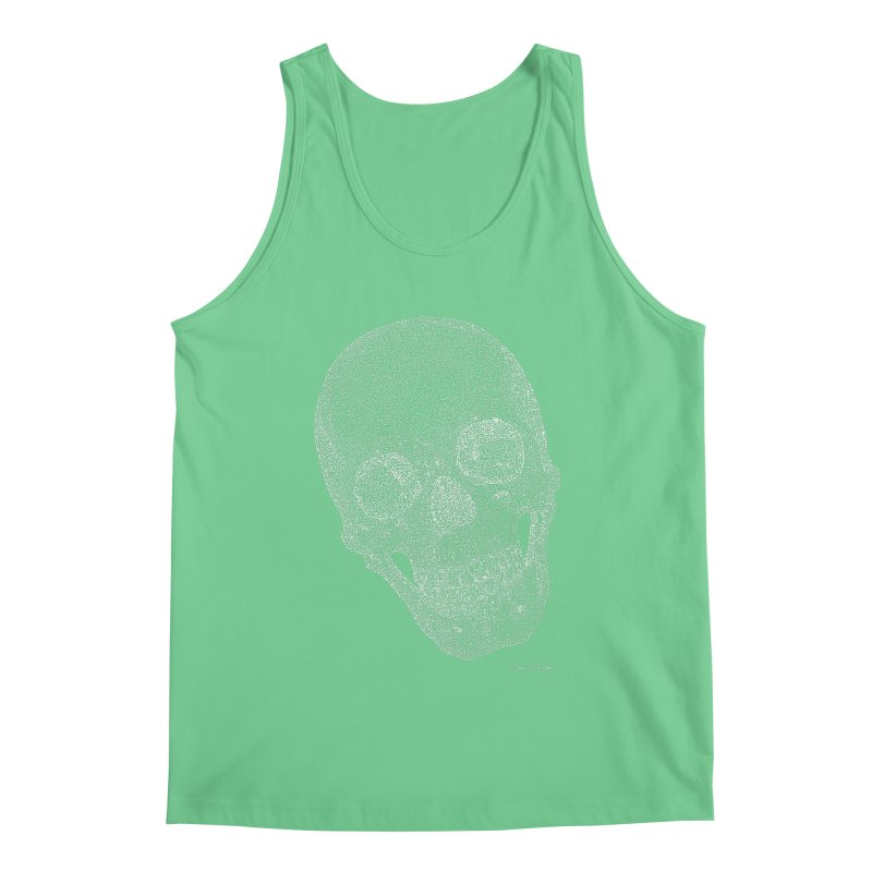 Skull Cocked (For Dark Background) Men's Regular Tank by Daniel Dugan's Artist Shop