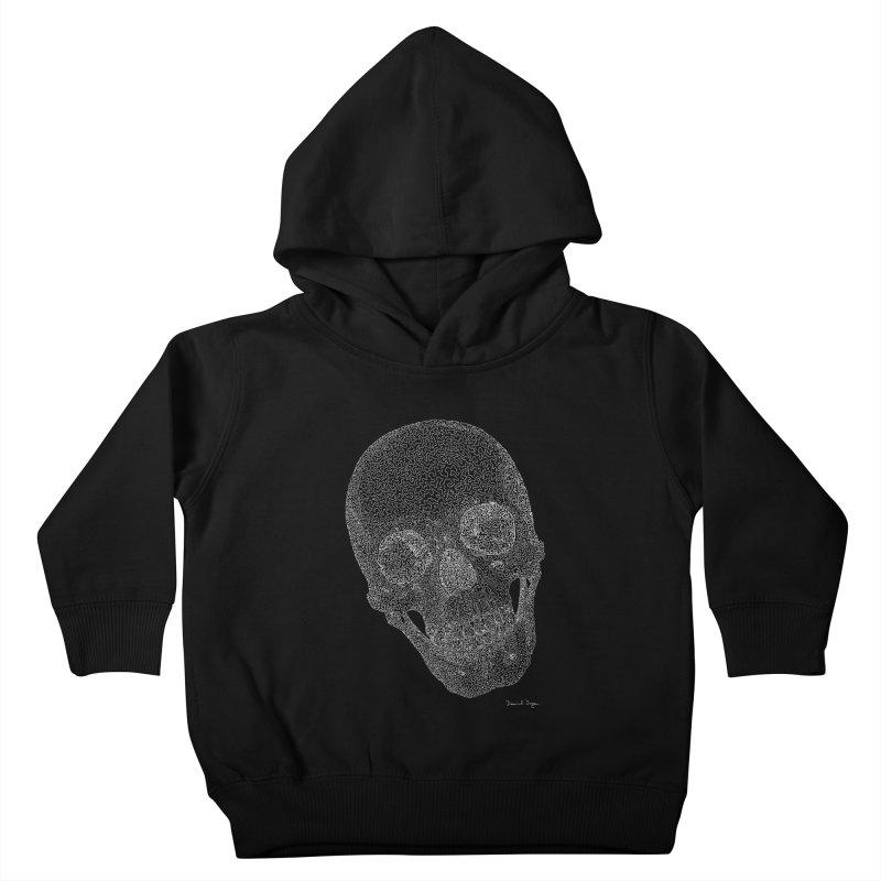 Skull Cocked (For Dark Background) Kids Toddler Pullover Hoody by Daniel Dugan's Artist Shop