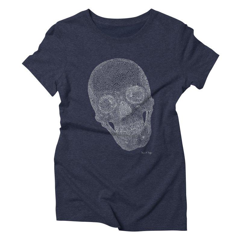 Skull Cocked (For Dark Background) Women's Triblend T-Shirt by Daniel Dugan's Artist Shop
