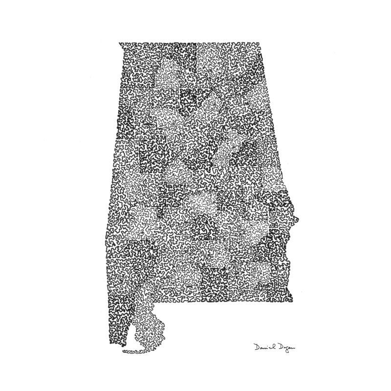Alabama - One Continuous Line by Daniel Dugan's Artist Shop