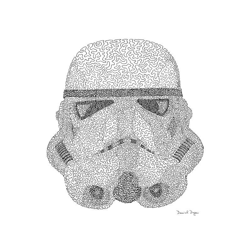 Trooper BLACK - One Continuous Line by Daniel Dugan's Artist Shop