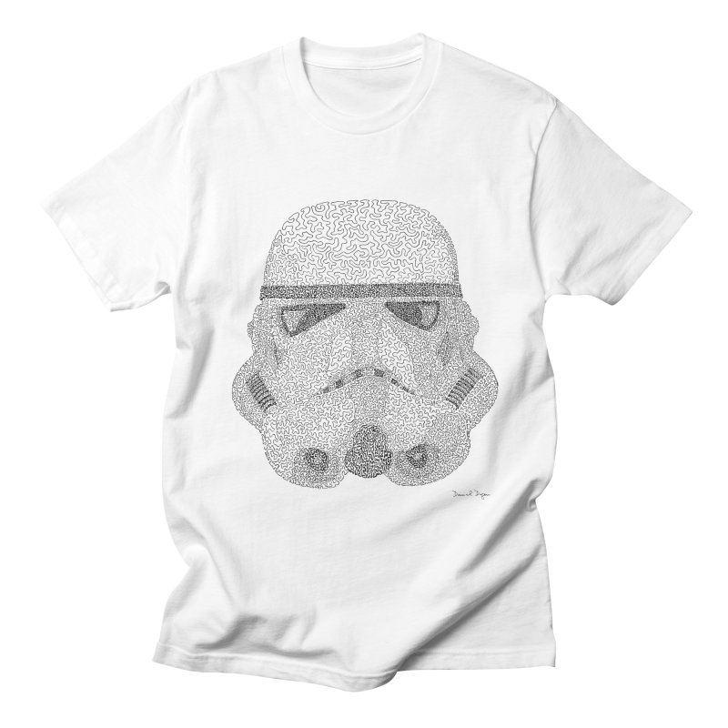 Trooper BLACK - One Continuous Line in Men's T-Shirt White by Daniel Dugan's Artist Shop