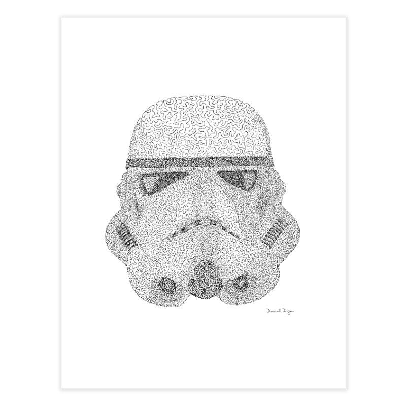 Trooper BLACK - One Continuous Line Home Fine Art Print by Daniel Dugan's Artist Shop