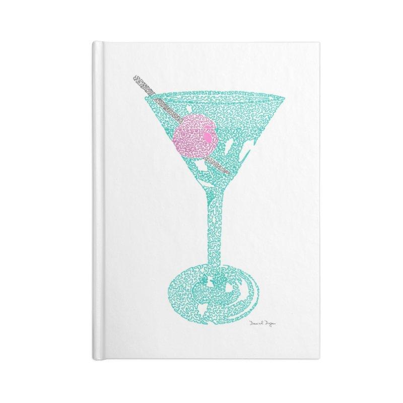Martini Accessories Lined Journal Notebook by Daniel Dugan's Artist Shop