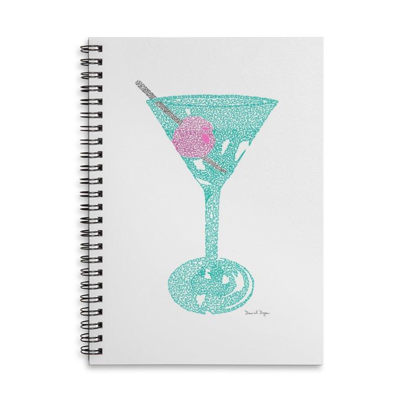 Martini Accessories Lined Spiral Notebook by Daniel Dugan's Artist Shop
