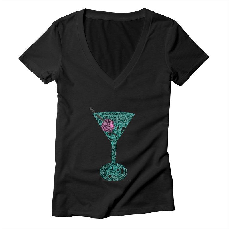 Martini Women's Deep V-Neck V-Neck by Daniel Dugan's Artist Shop