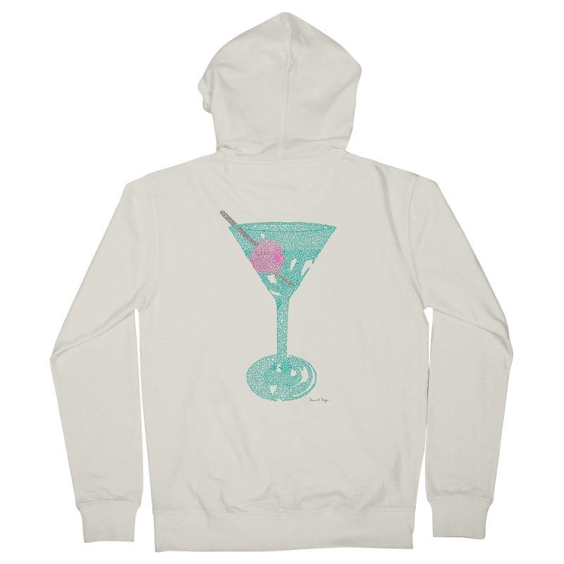 Martini Women's French Terry Zip-Up Hoody by Daniel Dugan's Artist Shop