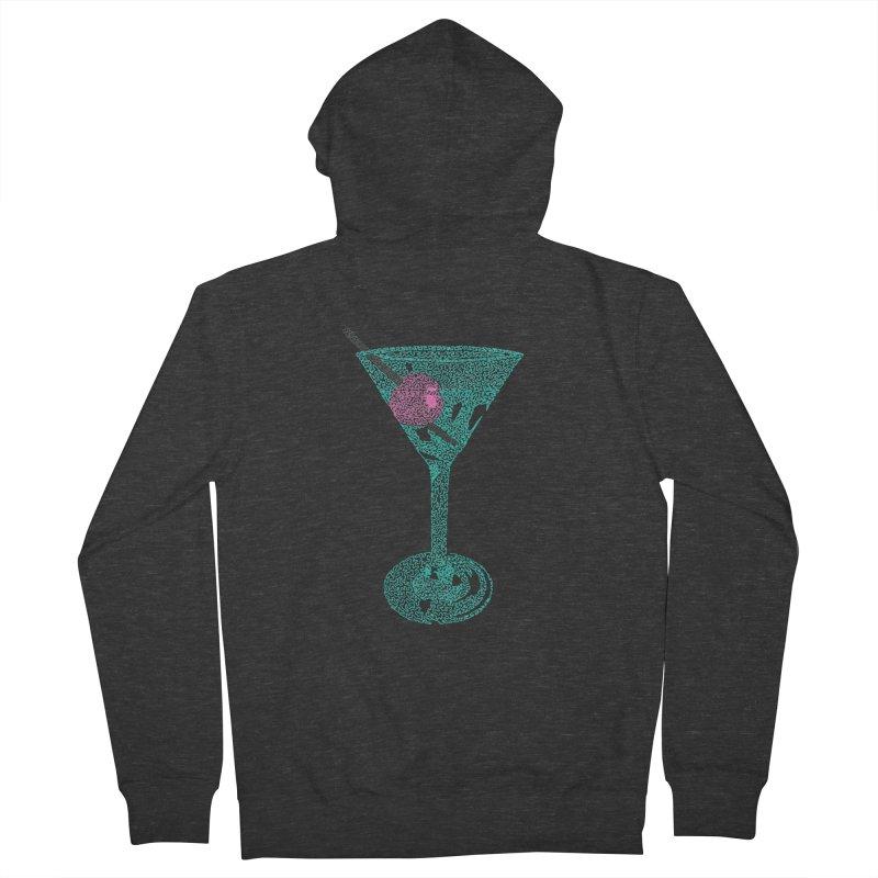 Martini Men's French Terry Zip-Up Hoody by Daniel Dugan's Artist Shop