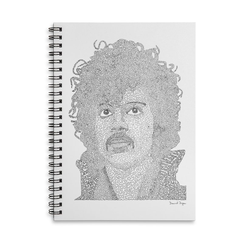 Prince Accessories Lined Spiral Notebook by Daniel Dugan's Artist Shop