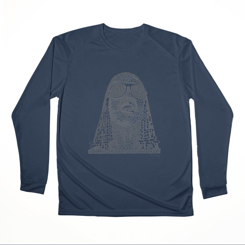 Stevie Wonder Women's Performance Unisex Longsleeve T-Shirt by Daniel Dugan's Artist Shop