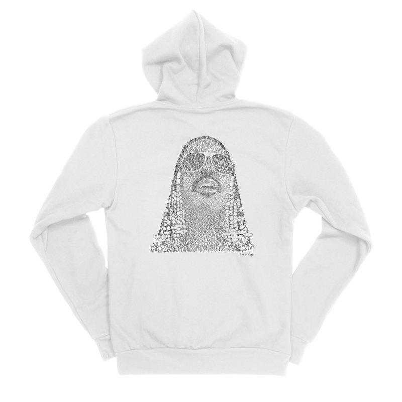 Stevie Wonder Men's Sponge Fleece Zip-Up Hoody by Daniel Dugan's Artist Shop