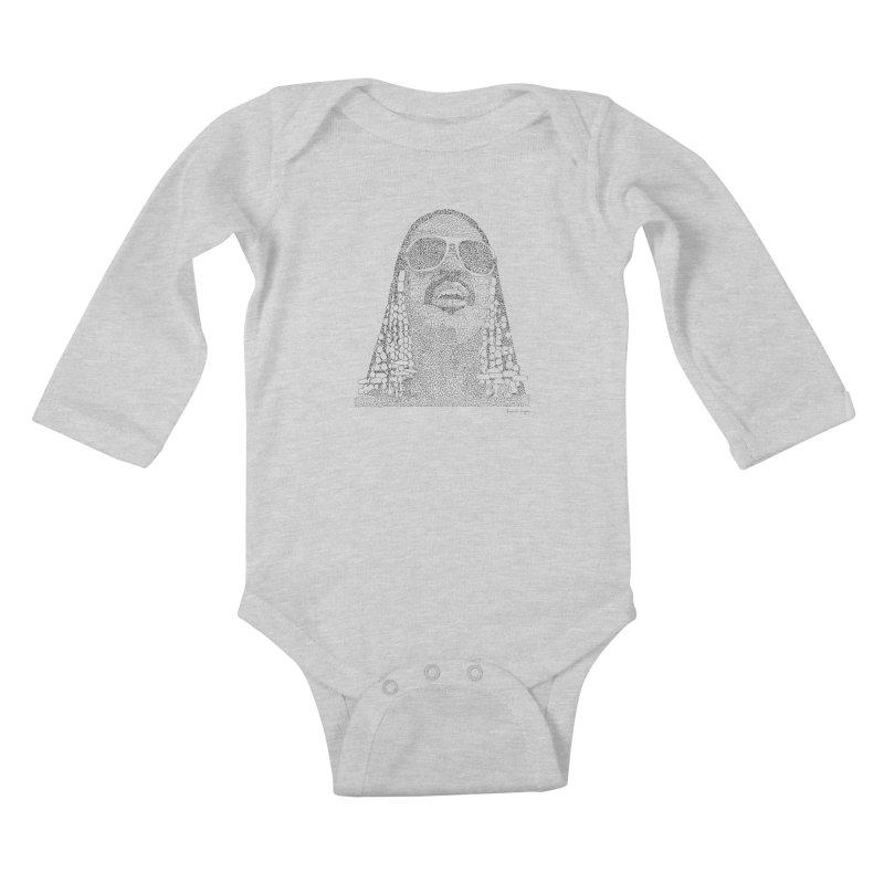 Stevie Wonder Kids Baby Longsleeve Bodysuit by Daniel Dugan's Artist Shop