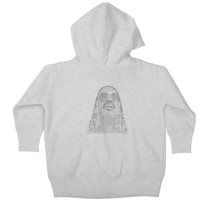Stevie Wonder Kids Baby Zip-Up Hoody by Daniel Dugan's Artist Shop