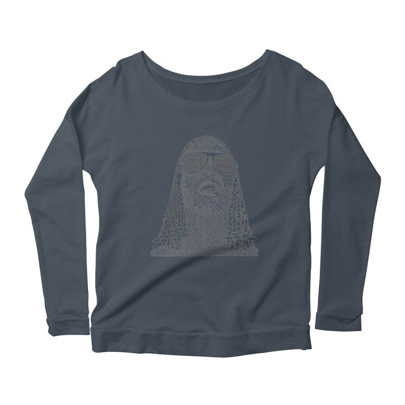 Stevie Wonder Women's Scoop Neck Longsleeve T-Shirt by Daniel Dugan's Artist Shop