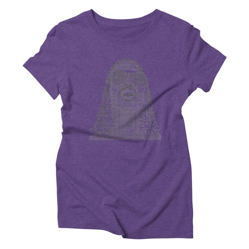 Stevie Wonder Women's Triblend T-Shirt by Daniel Dugan's Artist Shop