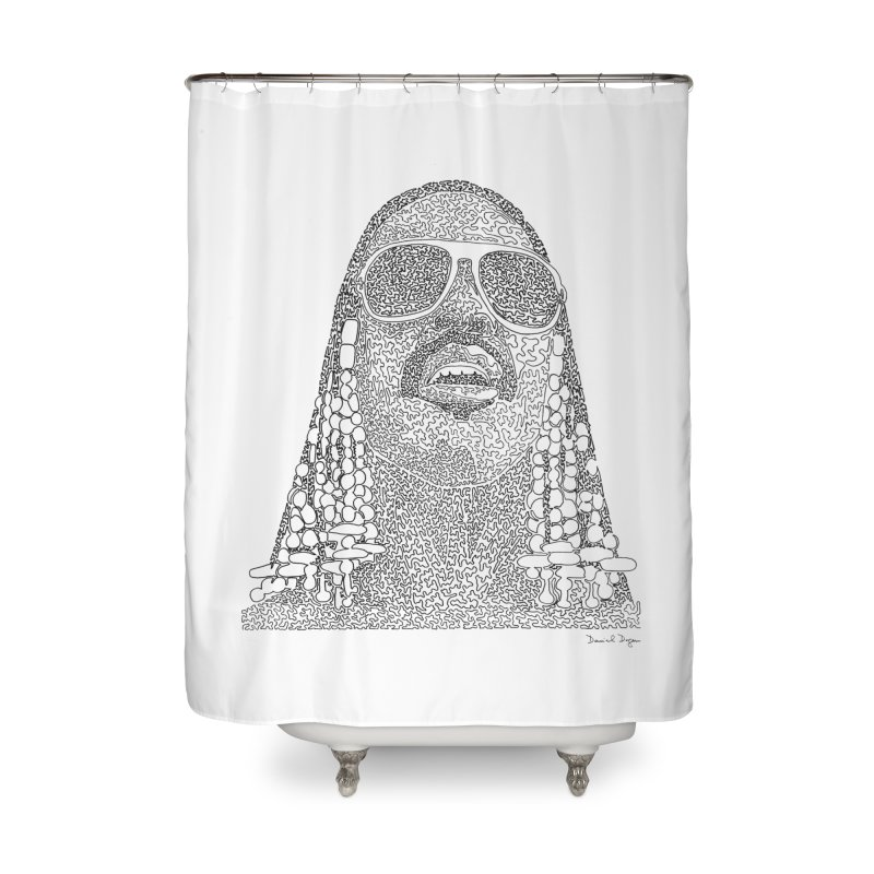 Stevie Wonder Home Shower Curtain by Daniel Dugan's Artist Shop