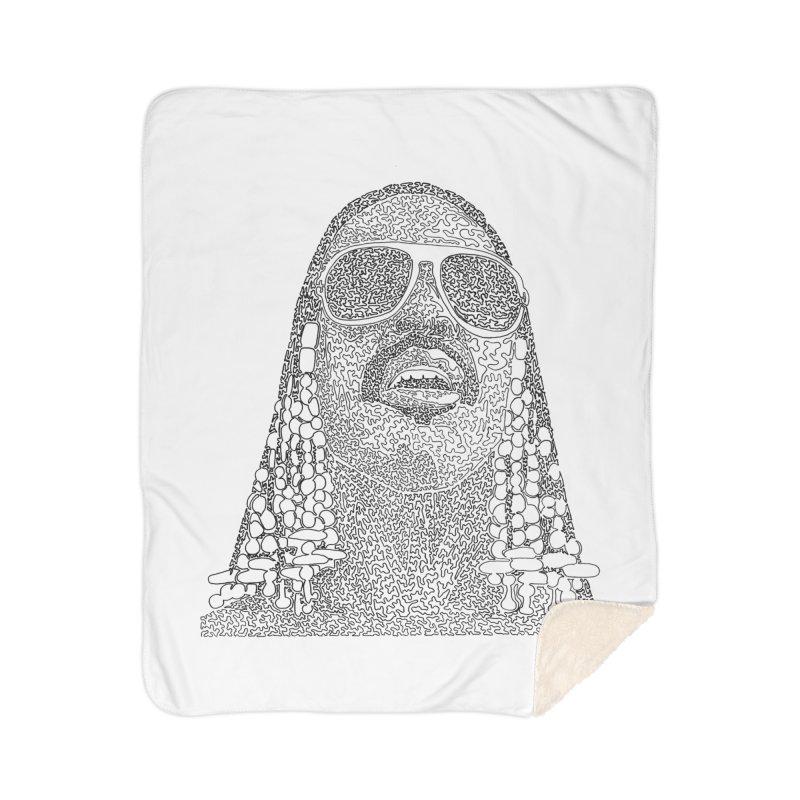 Stevie Wonder Home Sherpa Blanket Blanket by Daniel Dugan's Artist Shop