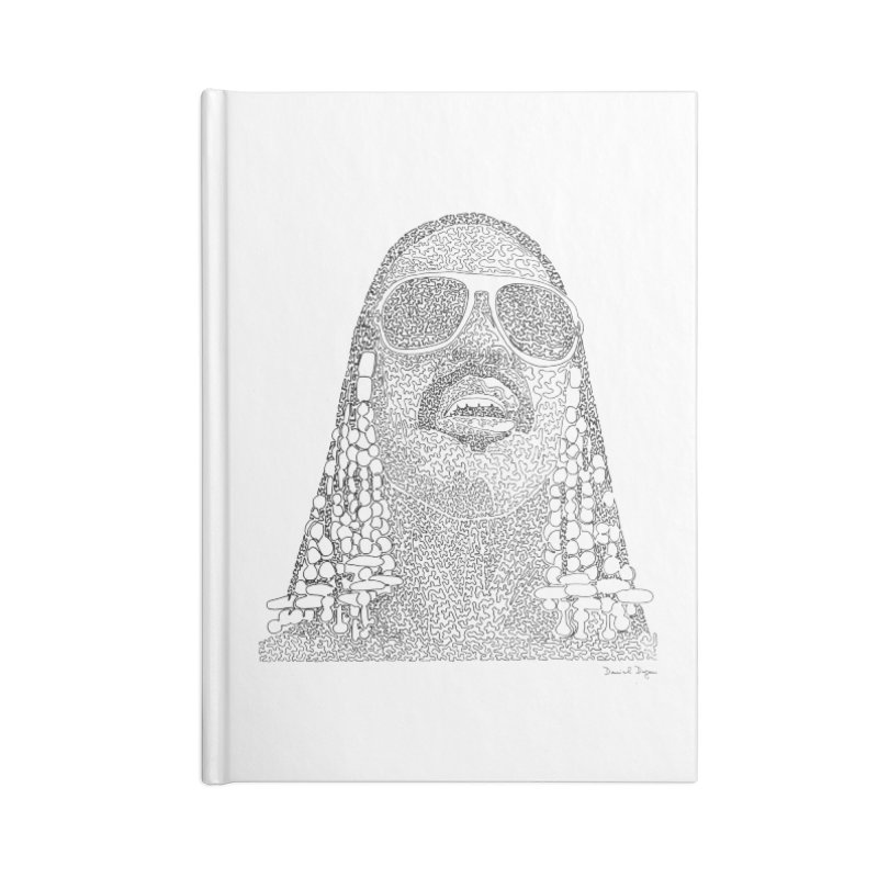 Stevie Wonder Accessories Lined Journal Notebook by Daniel Dugan's Artist Shop