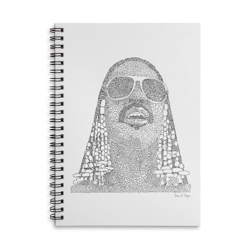 Stevie Wonder Accessories Lined Spiral Notebook by Daniel Dugan's Artist Shop