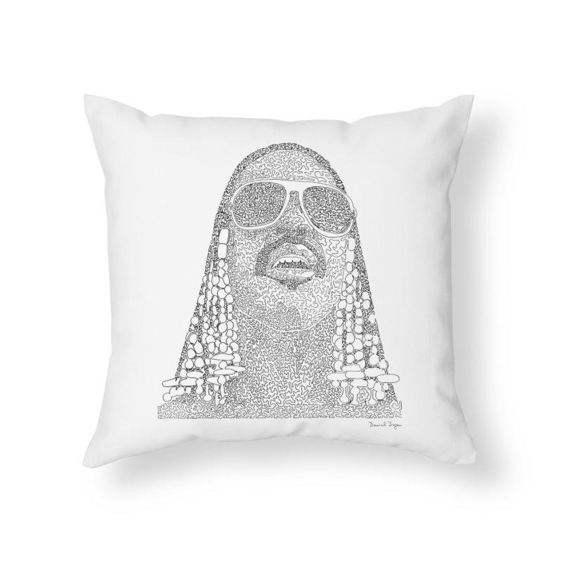 Stevie Wonder Home Throw Pillow by Daniel Dugan's Artist Shop