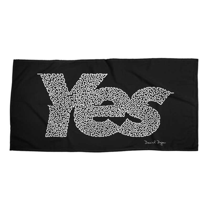 Yes (For Dark Background) Accessories Beach Towel by Daniel Dugan's Artist Shop