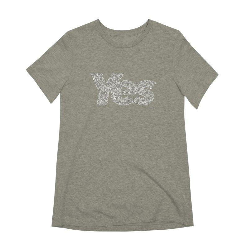 Yes (For Dark Background) Women's Extra Soft T-Shirt by Daniel Dugan's Artist Shop