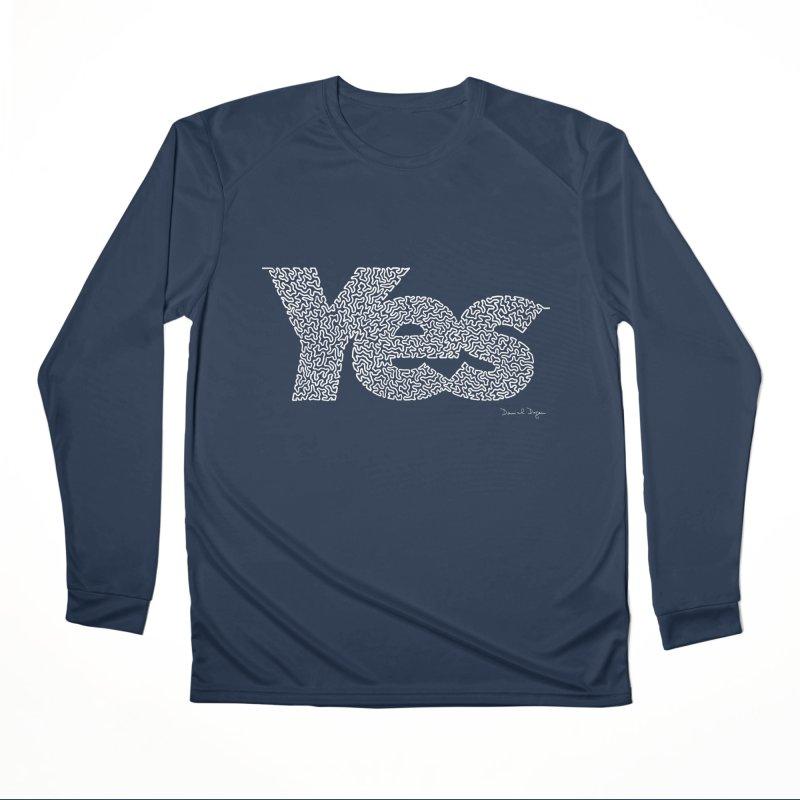 Yes (For Dark Background) Women's Performance Unisex Longsleeve T-Shirt by Daniel Dugan's Artist Shop