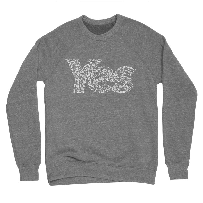 Yes (For Dark Background) Women's Sponge Fleece Sweatshirt by Daniel Dugan's Artist Shop