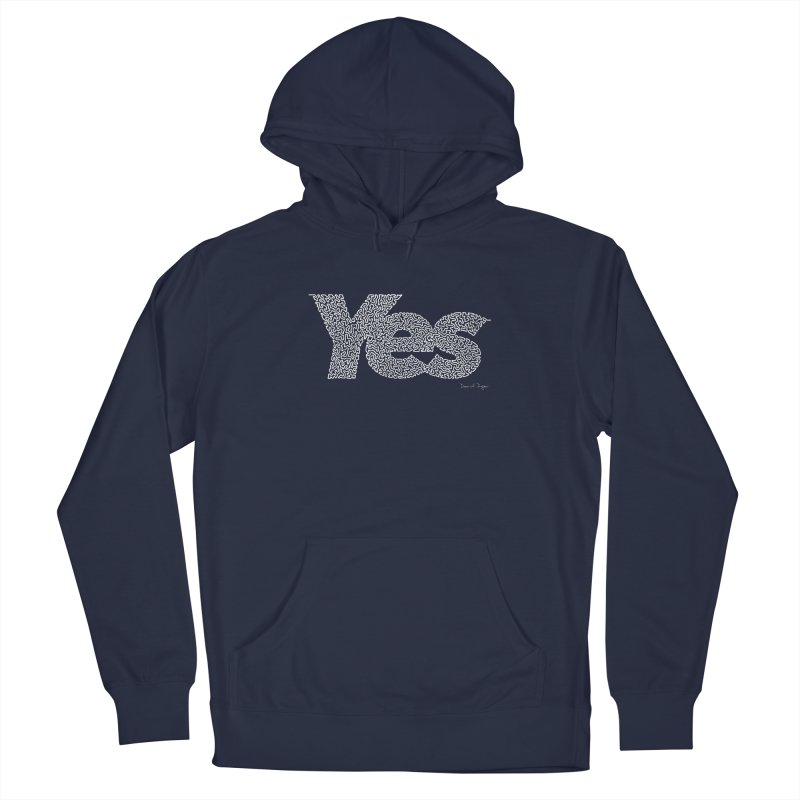 Yes (For Dark Background) Women's French Terry Pullover Hoody by Daniel Dugan's Artist Shop