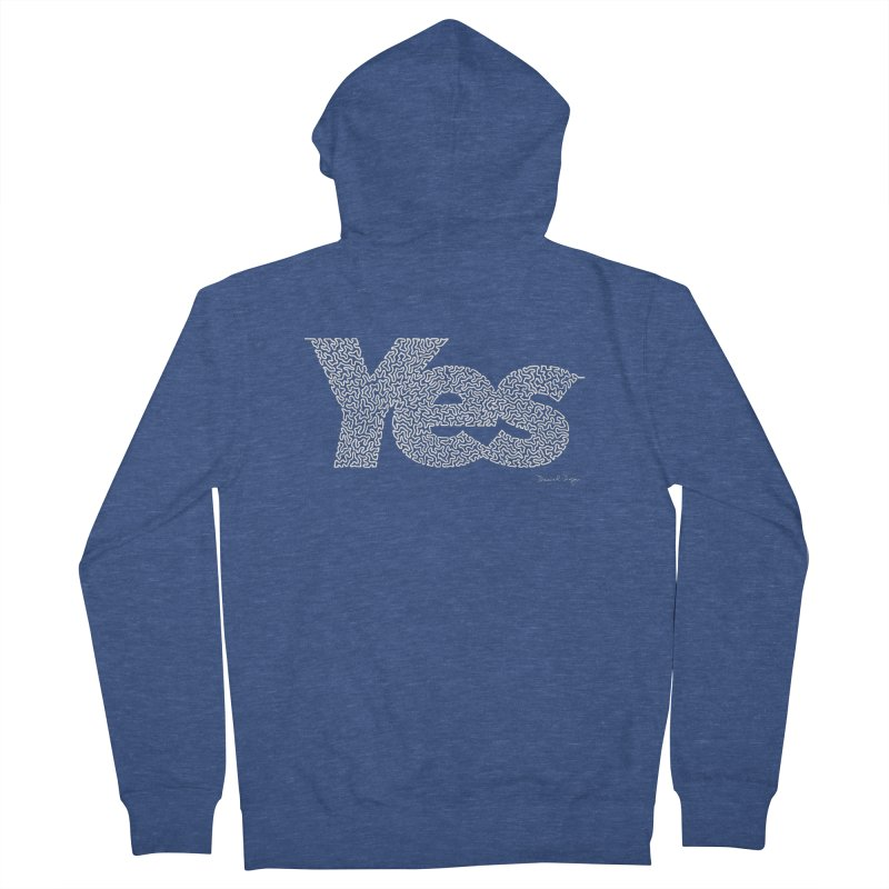 Yes (For Dark Background) Women's French Terry Zip-Up Hoody by Daniel Dugan's Artist Shop