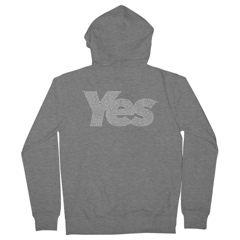 Yes (For Dark Background) Men's French Terry Zip-Up Hoody by Daniel Dugan's Artist Shop