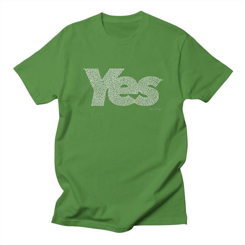 Yes (For Dark Background) Women's Regular Unisex T-Shirt by Daniel Dugan's Artist Shop