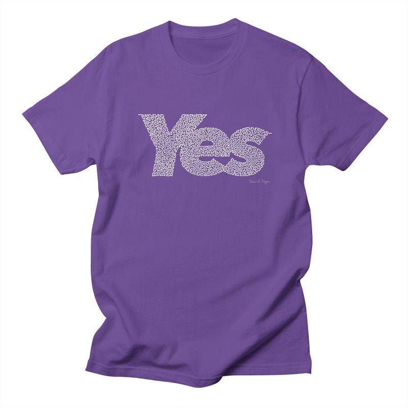 Yes (For Dark Background) Men's Regular T-Shirt by Daniel Dugan's Artist Shop